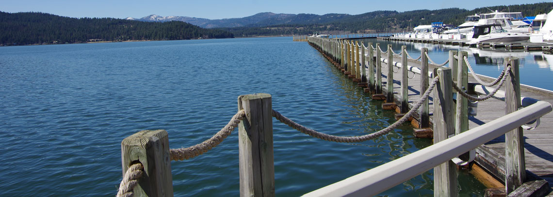 Docks on Lake Coeur d'Alene